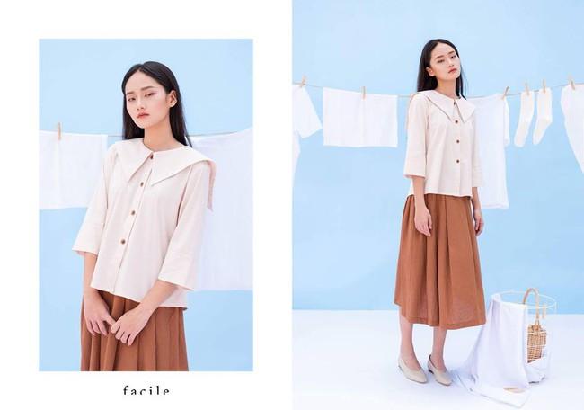 20 mẫu áo blouse siêu xinh từ các thương hiệu Việt chắc chắn sẽ đốn tim nàng trong những ngày giao mùa mát lịm - Ảnh 19.