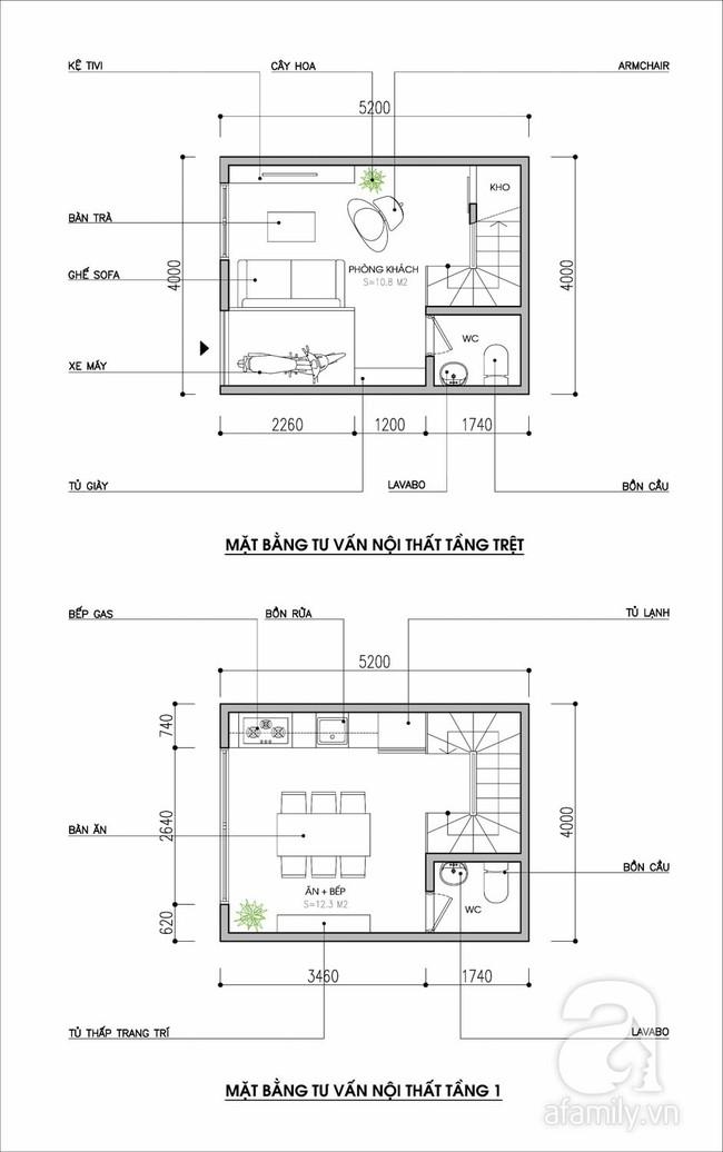 Tư vấn thiết kế nội thất nhà ống diện tích 21m² thoáng mát, đầy đủ công năng - Ảnh 1.