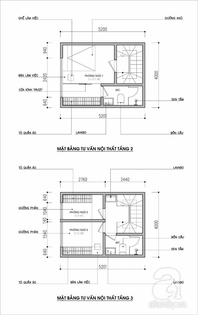 Tư vấn thiết kế nội thất nhà ống diện tích 21m² thoáng mát, đầy đủ công năng - Ảnh 2.