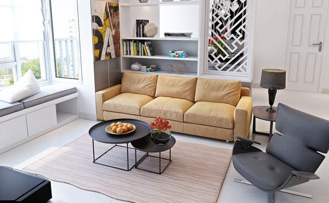 Tư vấn thiết kế nội thất nhà ống diện tích 21m² thoáng mát, đầy đủ công năng - Ảnh 4.
