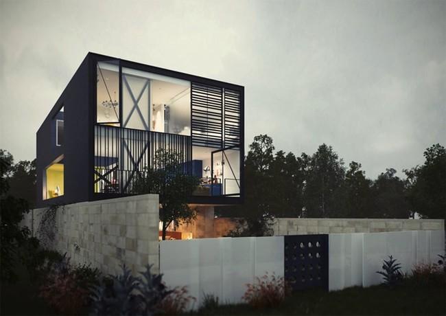 Ngôi nhà hai tầng thiết kế bằng kính ấn tượng - Ảnh 2.