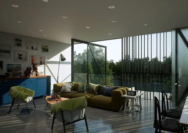 Ngôi nhà hai tầng thiết kế bằng kính ấn tượng - Ảnh 5.