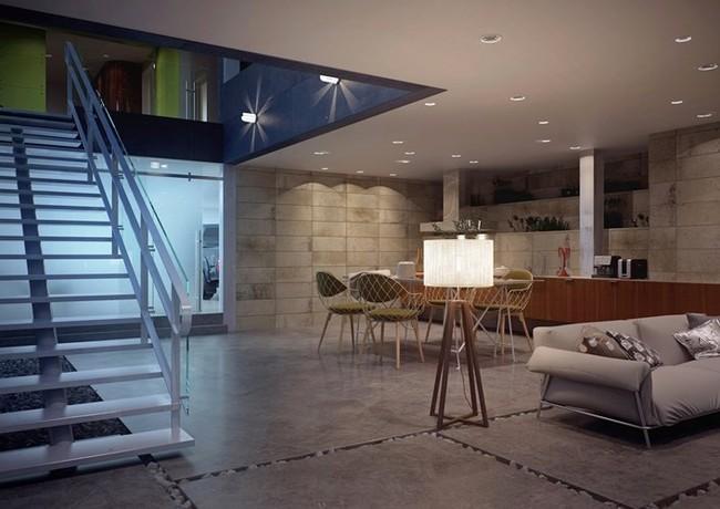 Ngôi nhà hai tầng thiết kế bằng kính ấn tượng - Ảnh 7.