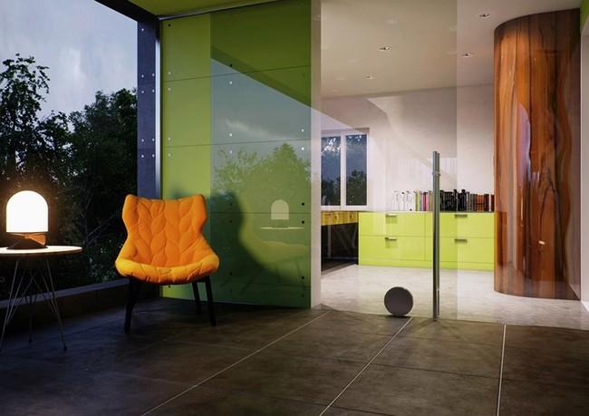 Ngôi nhà hai tầng thiết kế bằng kính ấn tượng - Ảnh 9.