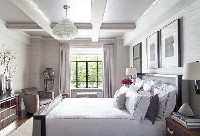 Nhẹ nhàng, đơn giản là thế nhưng một phòng ngủ đơn sắc trắng vẫn là niềm yêu thích của biết bao chị em - Ảnh 7.
