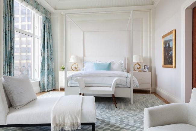 Nhẹ nhàng, đơn giản là thế nhưng một phòng ngủ đơn sắc trắng vẫn là niềm yêu thích của biết bao chị em - Ảnh 6.