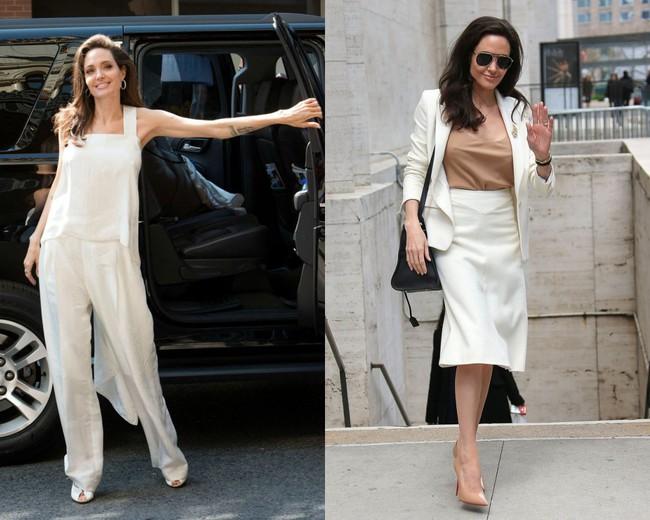 Đâu chỉ mỗi Angelina Jolie, loạt người đẹp Vbiz này cũng sáng rực cả góc phố nhờ những set đồ màu be  - Ảnh 4.
