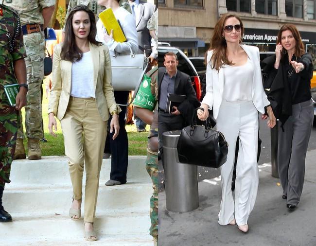 Đâu chỉ mỗi Angelina Jolie, loạt người đẹp Vbiz này cũng sáng rực cả góc phố nhờ những set đồ màu be  - Ảnh 3.