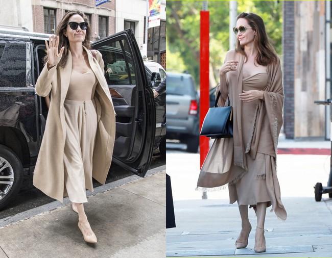 Đâu chỉ mỗi Angelina Jolie, loạt người đẹp Vbiz này cũng sáng rực cả góc phố nhờ những set đồ màu be  - Ảnh 2.