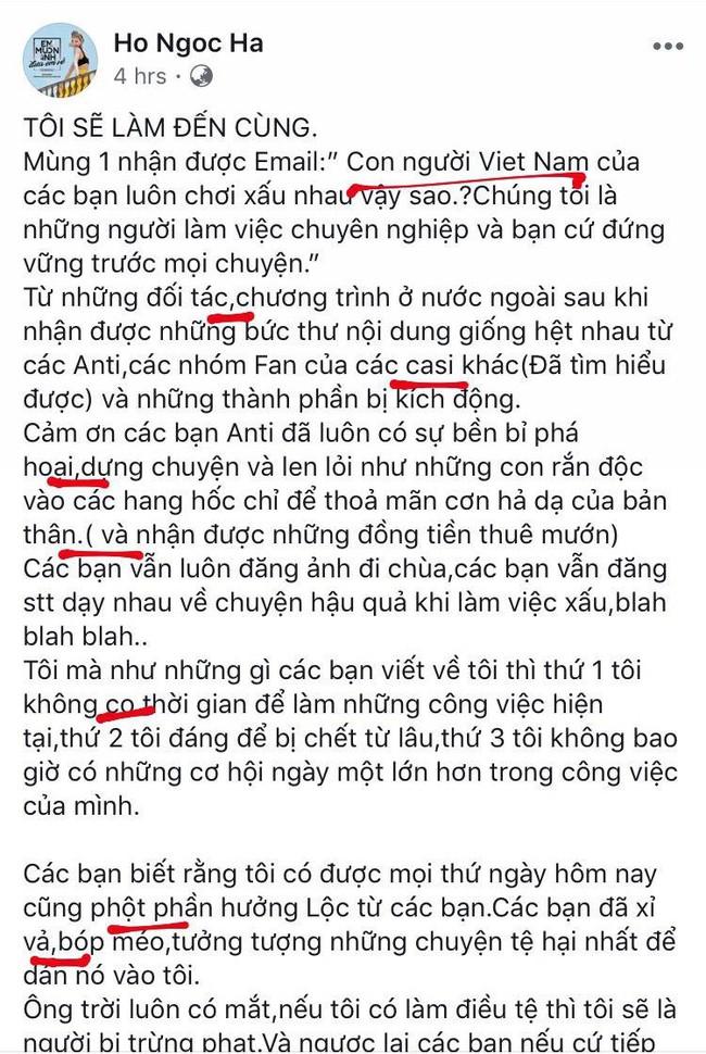 Đọc xong tâm thư Hồ Ngọc Hà gửi đến antifan, cảm thấy cần mở gấp lớp soạn thảo văn bản đúng chính tả cho cô - Ảnh 5.