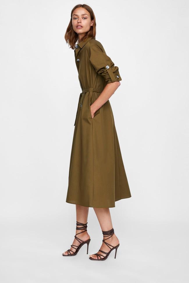 Duyên dáng như Hà Hồ diện váy liền dạo phố đón nắng thu, Zara và H&M cũng gợi ý 10 mẫu váy midi siêu nữ tính dành riêng cho bạn - Ảnh 5.