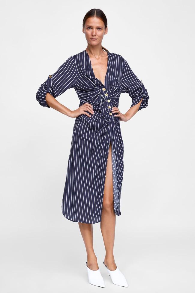 Duyên dáng như Hà Hồ diện váy liền dạo phố đón nắng thu, Zara và H&M cũng gợi ý 10 mẫu váy midi siêu nữ tính dành riêng cho bạn - Ảnh 9.