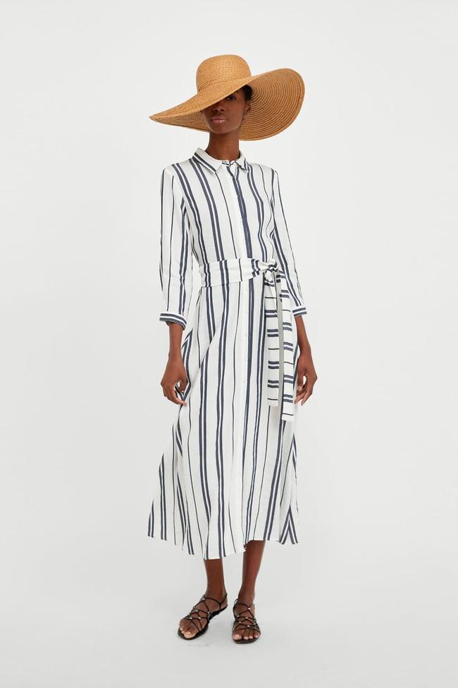 Duyên dáng như Hà Hồ diện váy liền dạo phố đón nắng thu, Zara và H&M cũng gợi ý 10 mẫu váy midi siêu nữ tính dành riêng cho bạn - Ảnh 10.
