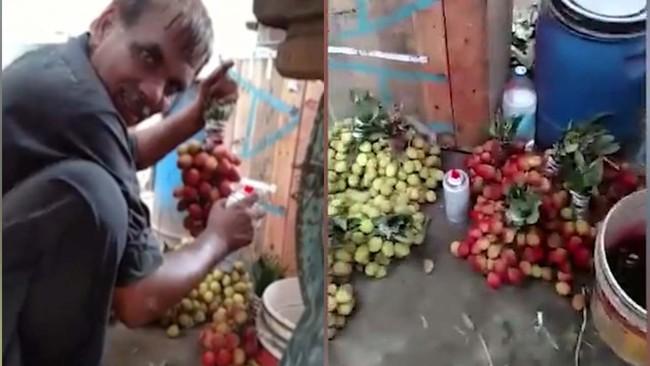 Từ video ghi lại chùm nho phun sơn hãi hùng, chuyên gia cảnh báo đồ ăn phun sơn đáng sợ thế này - Ảnh 3.