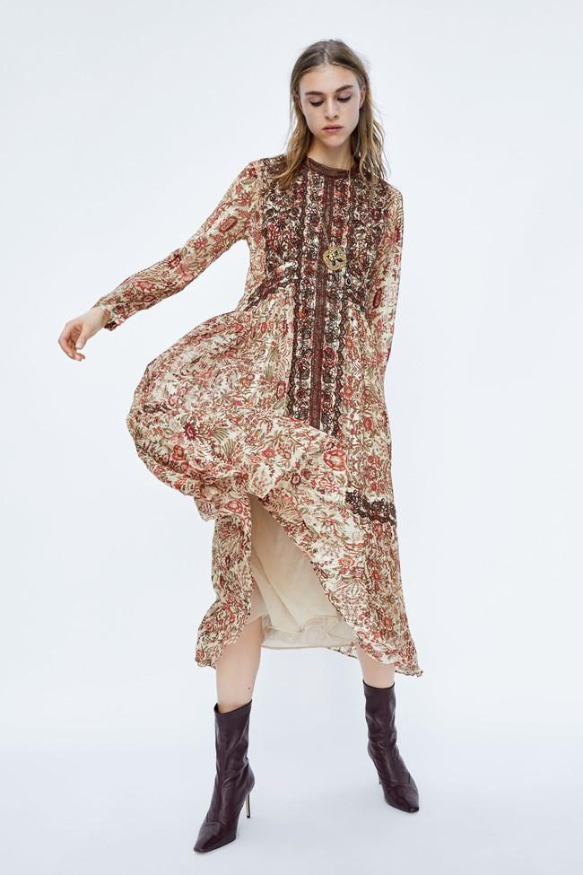 Để không chậm chân như Hà Hồ, hãy tham khảo ngay 10 mẫu váy midi mới nhất từ Zara, H&M dành riêng cho mùa thu này - Ảnh 8.