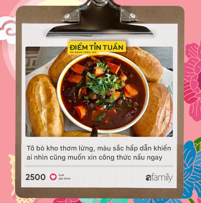 """Top 8 món ăn hot nhất trong tuần qua món đầu tiên """"nóng"""" đến mức có 2,5k lượt yêu thích - Ảnh 1."""