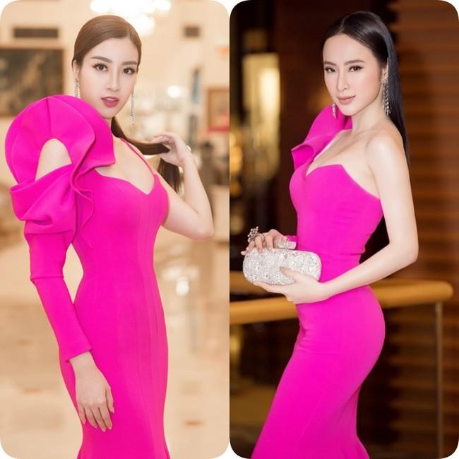 Nhẹ nhàng, mong manh như HH Đỗ Mỹ Linh cũng có tới 3 lần đụng độ váy áo với người đẹp nóng bỏng Angela Phương Trinh - Ảnh 5.