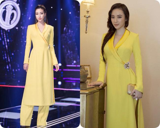 Nhẹ nhàng, mong manh như HH Đỗ Mỹ Linh cũng có tới 3 lần đụng độ váy áo với người đẹp nóng bỏng Angela Phương Trinh - Ảnh 14.