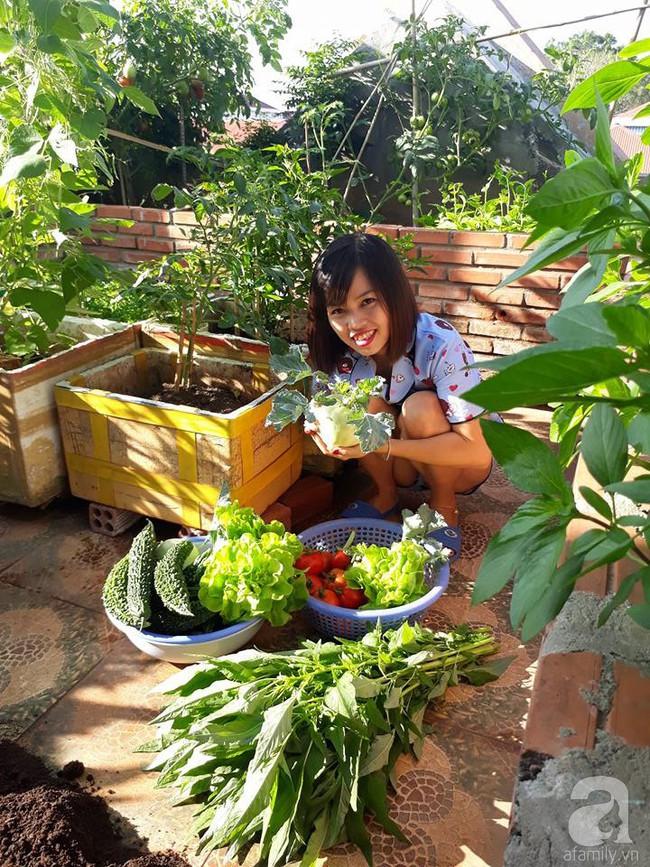 Khu vườn sân thượng tuy nhỏ nhưng bạt ngàn rau sạch của người chồng dồn sức chăm bón cho vợ con ở Vũng Tàu - Ảnh 12.