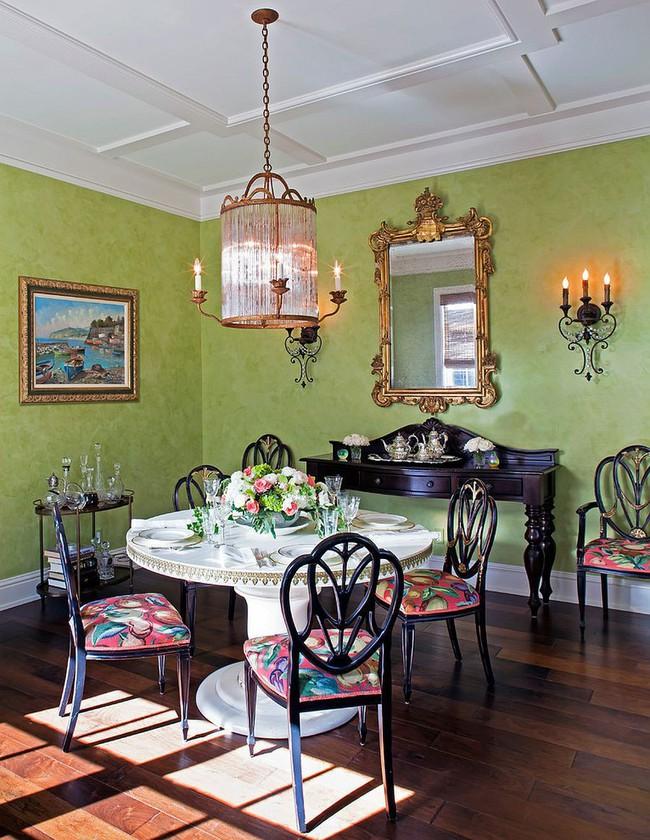 Xu hướng thiết kế phòng ăn màu xanh lá cây phong cách tươi mới lại dễ chịu, hợp thời - Ảnh 10.