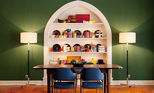 Xu hướng thiết kế phòng ăn màu xanh lá cây phong cách tươi mới lại dễ chịu, hợp thời - Ảnh 2.