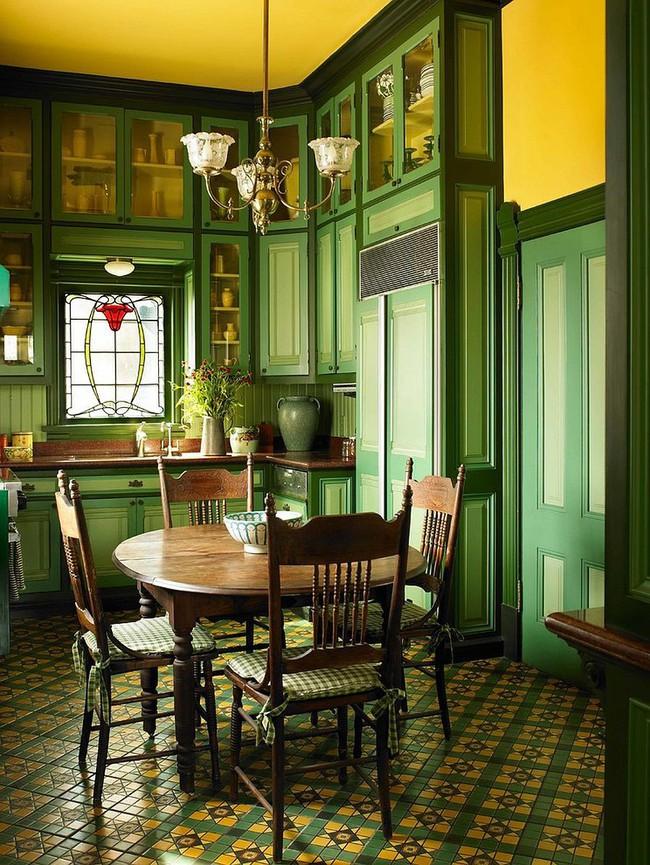 Xu hướng thiết kế phòng ăn màu xanh lá cây phong cách tươi mới lại dễ chịu, hợp thời - Ảnh 4.