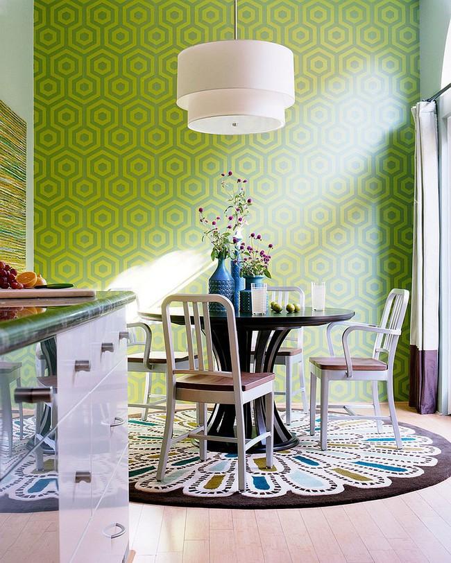 Xu hướng thiết kế phòng ăn màu xanh lá cây phong cách tươi mới lại dễ chịu, hợp thời - Ảnh 8.
