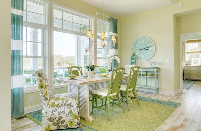 Xu hướng thiết kế phòng ăn màu xanh lá cây phong cách tươi mới lại dễ chịu, hợp thời - Ảnh 9.