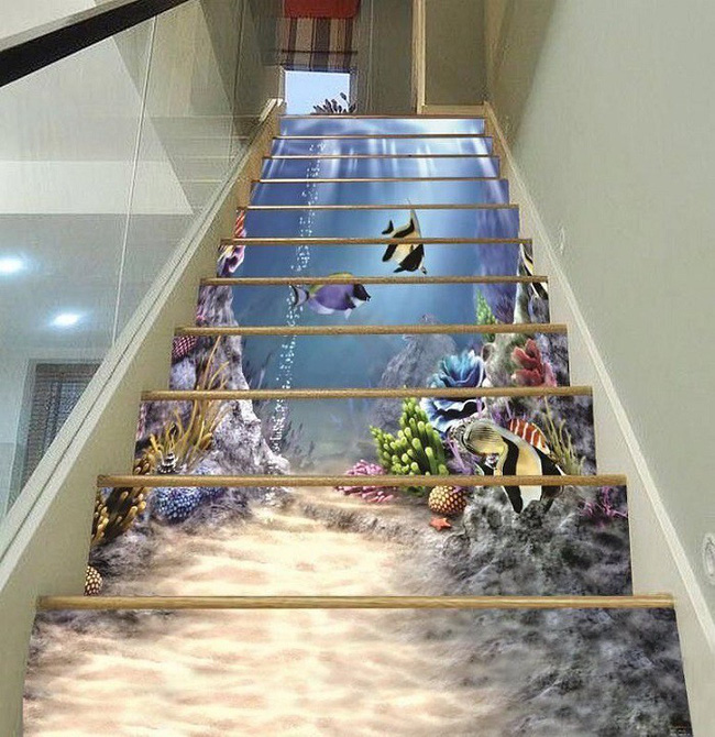 Bộ sưu tập khủng gồm 12 thiết kế trang trí cầu thang 3D của cô gái trẻ khiến bạn khó lòng mà rời mắt - Ảnh 1.