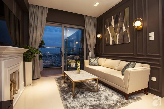 Ngắm căn hộ 82m² đậm chất nam tính của gia chủ thích tiếp đón bạn bè ở TP. HCM - Ảnh 1.