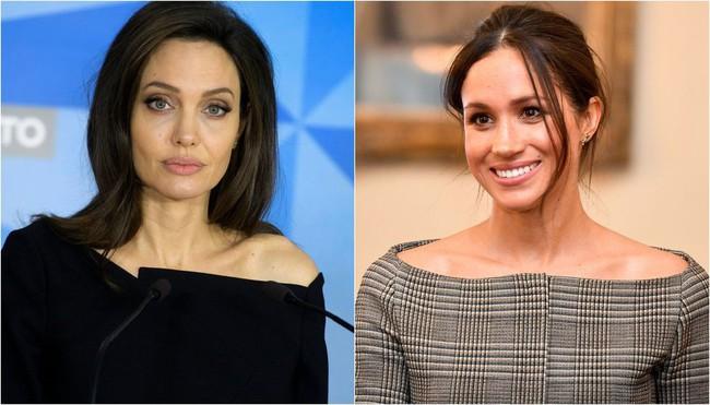 Ngỡ chẳng liên quan mà Công nương Meghan và Angelina Jolie lại có gu thời trang hợp nhau không ngờ - Ảnh 1.