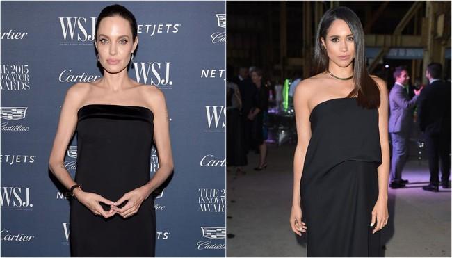 Ngỡ chẳng liên quan mà Công nương Meghan và Angelina Jolie lại có gu thời trang hợp nhau không ngờ - Ảnh 4.