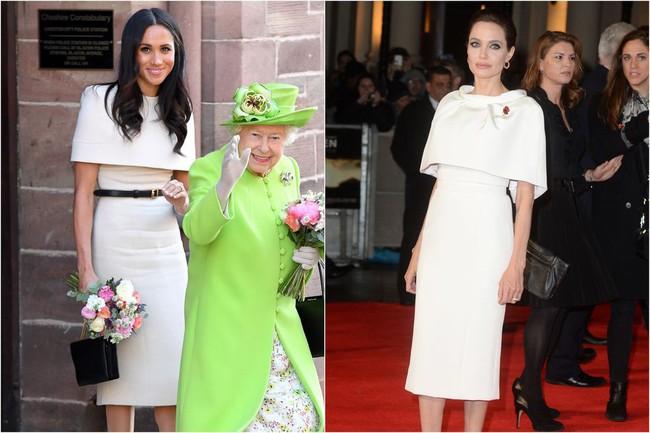 Ngỡ chẳng liên quan mà Công nương Meghan và Angelina Jolie lại có gu thời trang hợp nhau không ngờ - Ảnh 6.