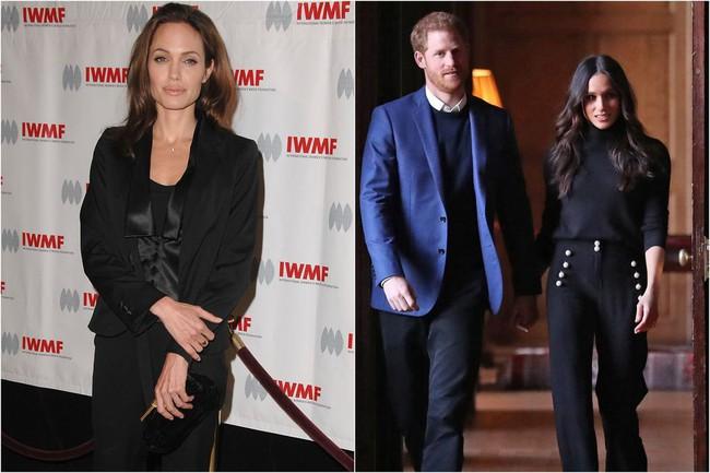 Ngỡ chẳng liên quan mà Công nương Meghan và Angelina Jolie lại có gu thời trang hợp nhau không ngờ - Ảnh 7.