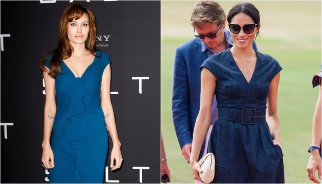 Ngỡ chẳng liên quan mà Công nương Meghan và Angelina Jolie lại có gu thời trang hợp nhau không ngờ - Ảnh 9.
