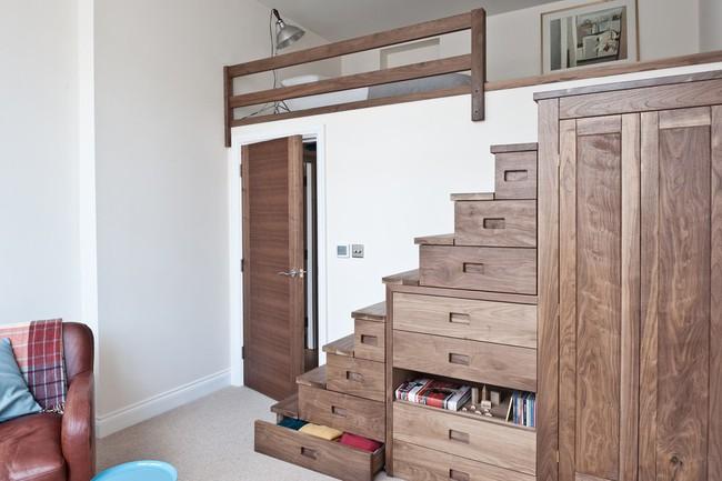 14 mẫu thiết kế cầu thang cho nhà có gác lửng, vừa tiết kiệm diện tích vừa làm duyên cho nhà nhỏ - Ảnh 1.