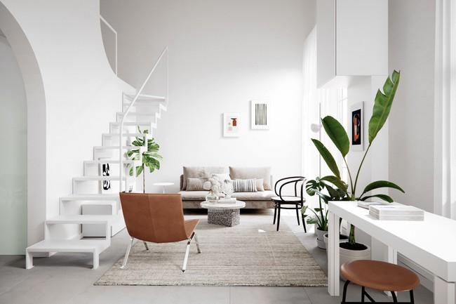 Căn hộ với sự kết hợp hoàn hảo giữa màu xanh của lá và màu trắng của phong cách Scandinavian - Ảnh 1.