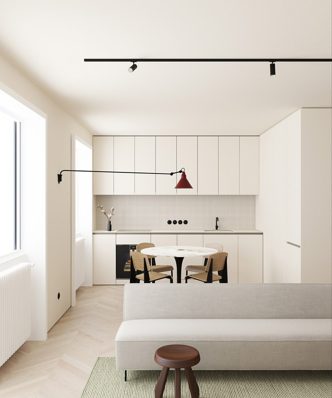 2 căn hộ nhỏ nhưng vô cùng đỉnh cao cho sự kết hợp giữa phong cách tối giản và phong cách Scandinavian  - Ảnh 3.