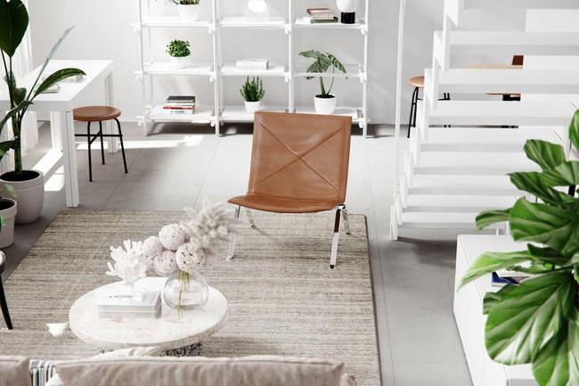 Căn hộ với sự kết hợp hoàn hảo giữa màu xanh của lá và màu trắng của phong cách Scandinavian - Ảnh 3.
