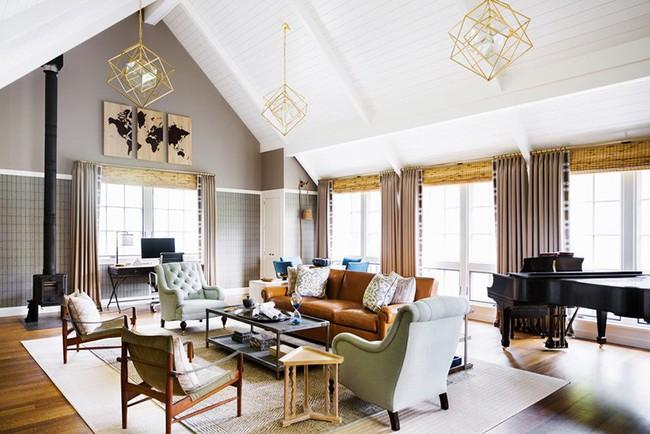 Đèn thả trần - xu hướng nội thất phòng khách 2019 để bạn lựa chọn cho gia đình - Ảnh 23.