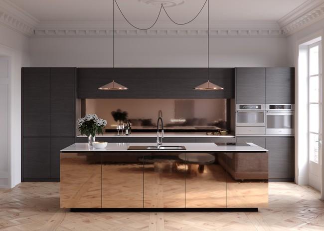 Những gợi ý trang trí góc bếp sang trọng, bừng sáng đón Xuân an vui đang về (P1) - Ảnh 19.