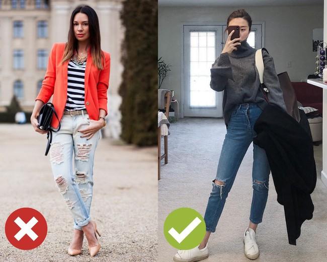 3 lỗi diện quần jeans không khiến cặp chân ngắn hơn thì cũng dễ đưa bạn vào tình huống kém duyên, nhạy cảm - Ảnh 5.