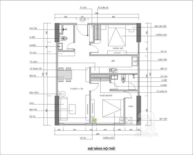 Tư vấn thiết kế căn hộ diện tích 70m² dành cho chủ nhân trẻ tuổi năng động - Ảnh 1.