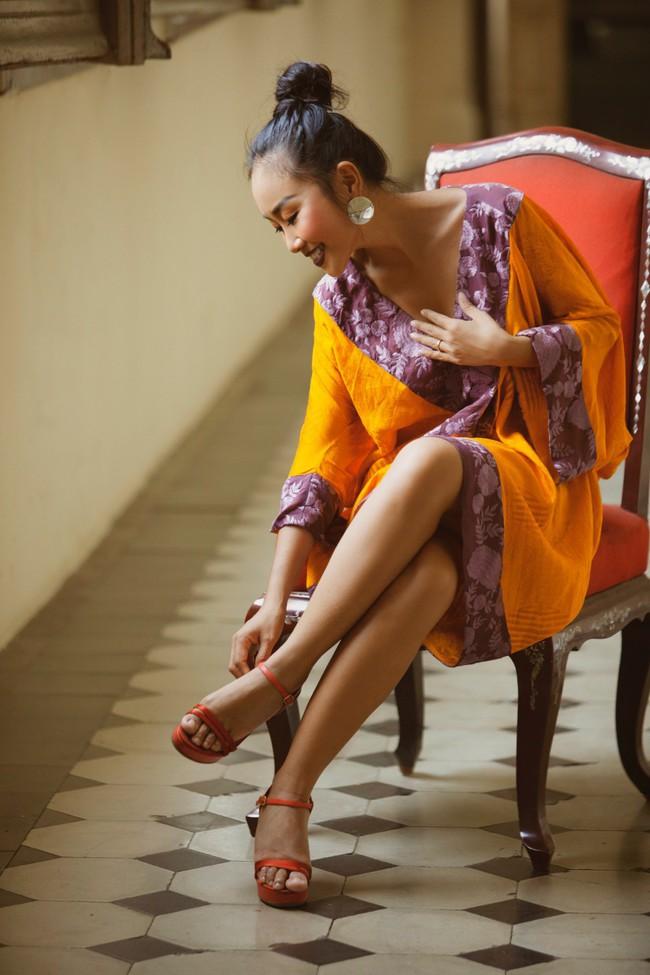 Mẹ Đoan Trang lần đầu thử sức làm người mẫu cùng con gái - Ảnh 4.
