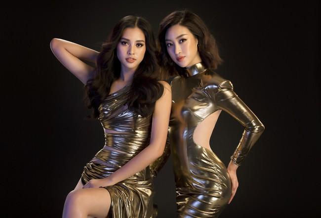 Mới đăng quang, Tiểu Vy đã diện váy xẻ siêu cao, đọ sắc với Đỗ Mỹ Linh mặc đầm cut-out bạo không kém - Ảnh 1.