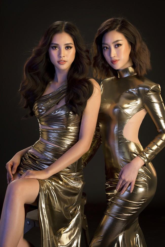 Mới đăng quang, Tiểu Vy đã diện váy xẻ siêu cao, đọ sắc với Đỗ Mỹ Linh mặc đầm cut-out bạo không kém - Ảnh 2.
