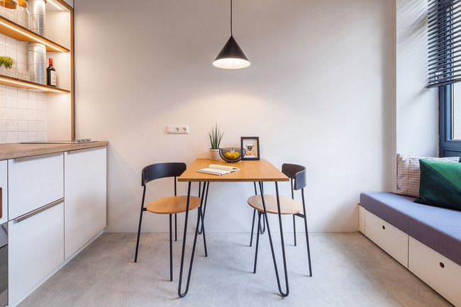 25 phòng ăn cho căn hộ nhỏ vừa đẹp lại vừa tiết kiệm không gian - Ảnh 8.