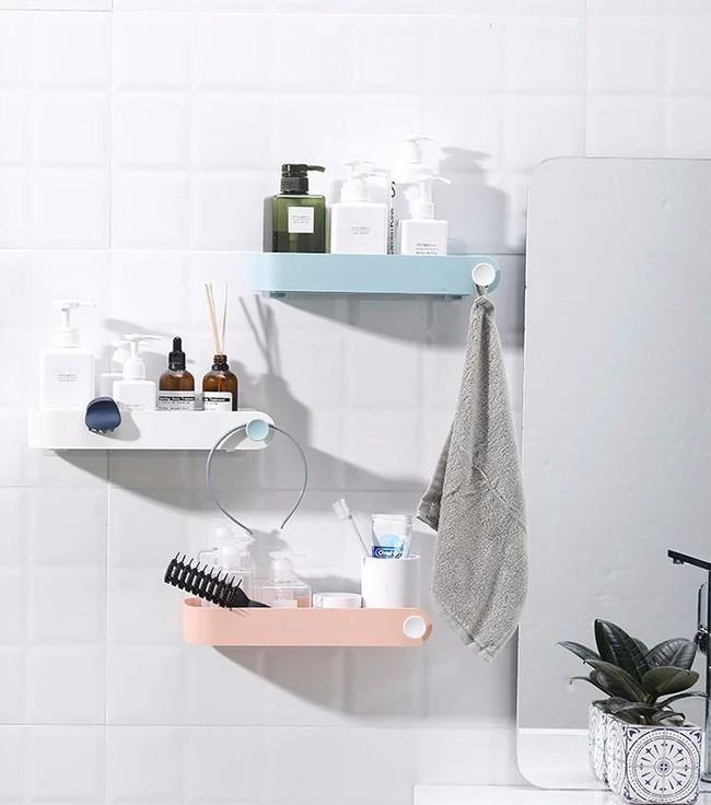 Làm kệ lưu trữ phòng tắm thực sự dễ dàng, hoàn toàn không cần phải khoan tường nhờ đồ vật này - Ảnh 8.