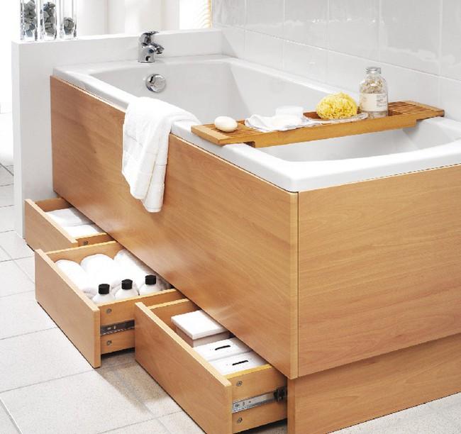 7 ý tưởng lưu trữ ẩn trong phòng tắm bạn không thể không biết để sở hữu phòng tắm rộng hơn diện tích thật - Ảnh 2.
