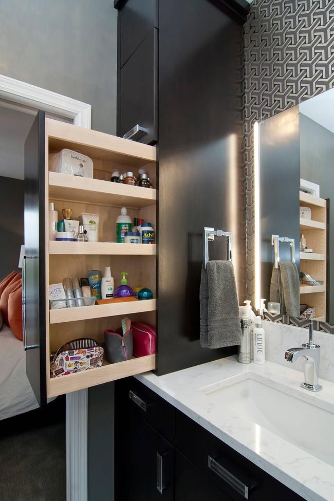 7 ý tưởng lưu trữ ẩn trong phòng tắm bạn không thể không biết để sở hữu phòng tắm rộng hơn diện tích thật - Ảnh 4.